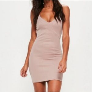 Missguided Pink Paneled Bodycon Dress